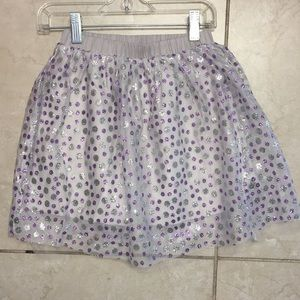 Metallic purple silver crewcuts for jcrew skirt